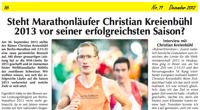 Steht Marathonläufer Christian Kreienbühl 2013 vor seiner erfolgreichsten Saison?