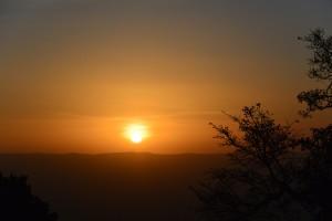 Sonnenaufgang - vom Hotel-Zimmer aus